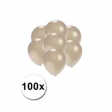 Mini ballonnen zilver metallic 100 stuks