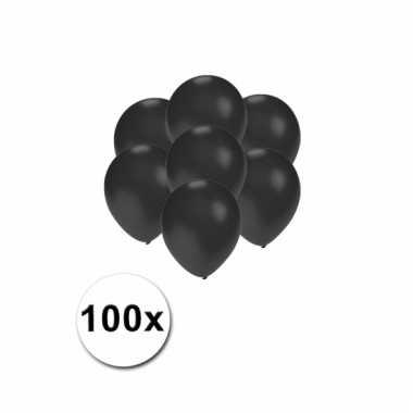 Mini ballonnen zwart metallic 100 stuks