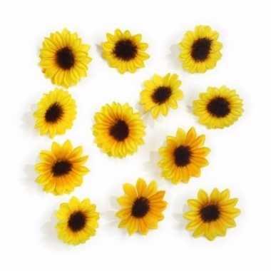 Mini deco zonnebloemen 24 stuks
