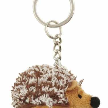 Mini egel knuffel sleutelhanger 6 cm