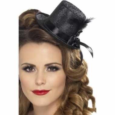 Mini hoge hoedjes zwart