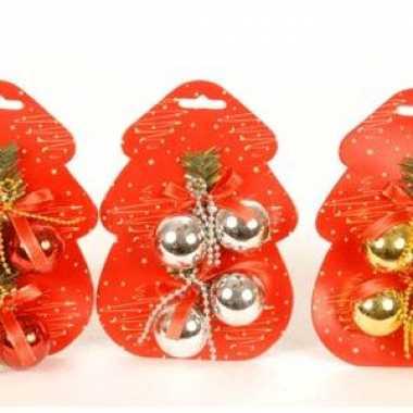 Mini kerstballen voor in de boom