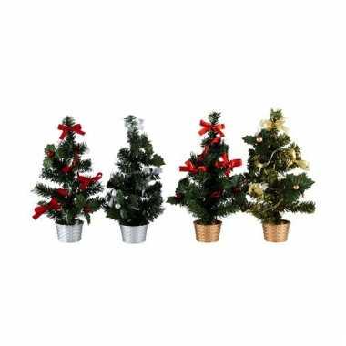 Mini kerstboom 30 cm zilver