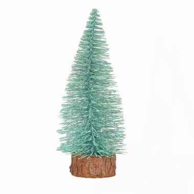 Mini kerstboom op stam 25 cm mintgroen