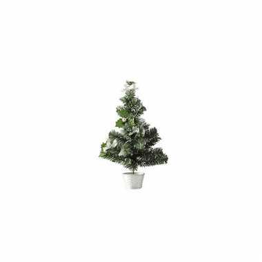 Mini kerstboompjes zilver 36 cm