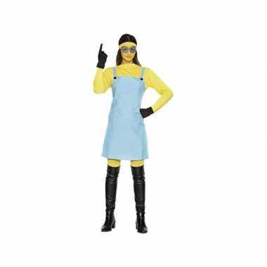 Mini kostuum gele dame