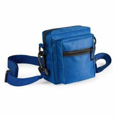Mini schoudertasjes blauw 11 cm