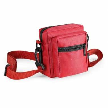 Mini schoudertasjes rood 11 cm