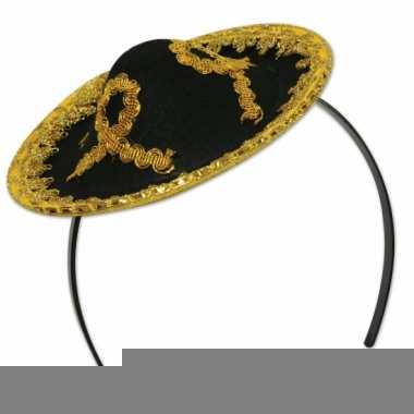 Mini sombrero op haarband