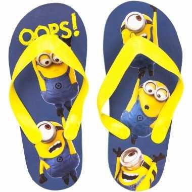 Minions flip flops oops! blauw/geel voor kinderen