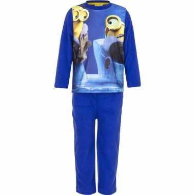 Minions jongens fleece pyjama blauw