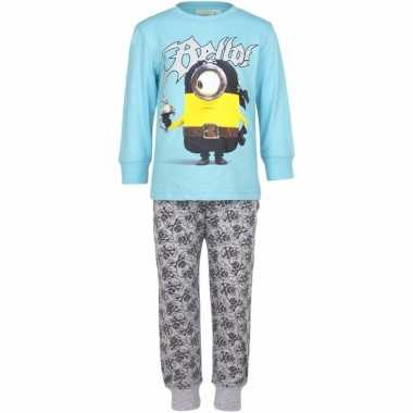 Minions jongens pyjama blauw piraat
