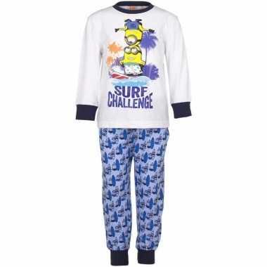 Minions jongens pyjama blauw surf challenge