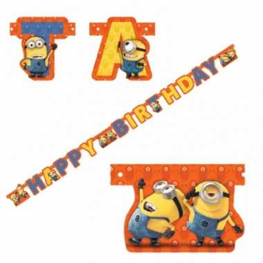 Minions letter slinger happy birthday