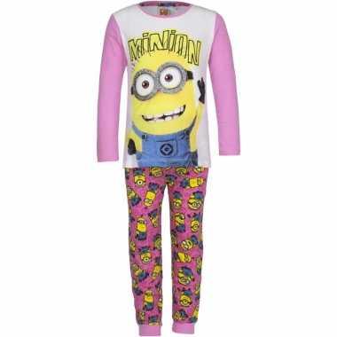 Minions meiden pyjama roze