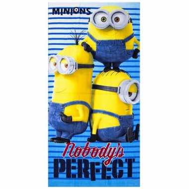 Minions nobody is perfect strandlaken 70 x 140