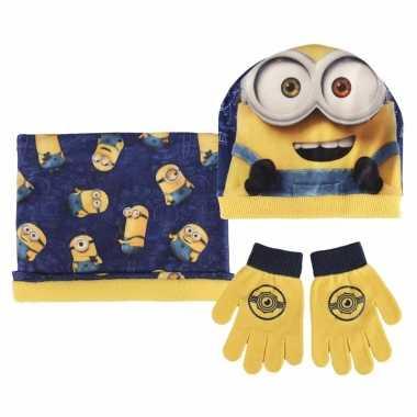 Minions winter accessoires set voor jongens