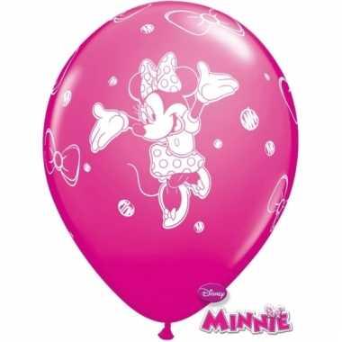 Minnie mouse ballonnen roze 6 stuks