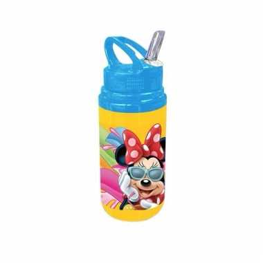 Minnie mouse bidon blauwe dop