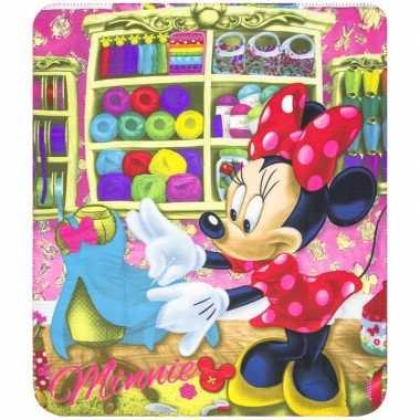 Minnie mouse disney fleece bankdeken voor meisjes
