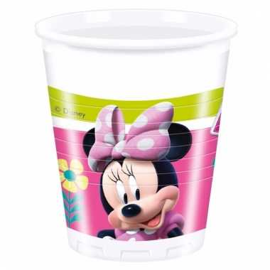 Minnie mouse feestbekertjes 8 stuks