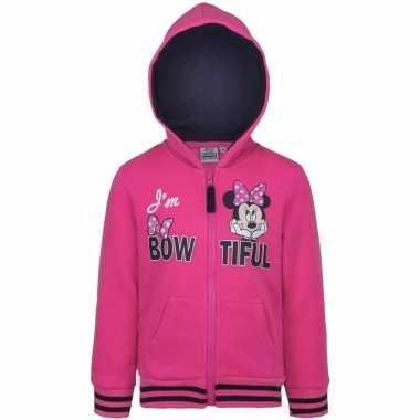 Minnie mouse hooded sweater vest voor meisjes