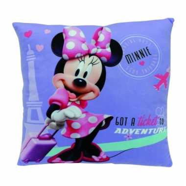Minnie mouse kussentje 35 cm