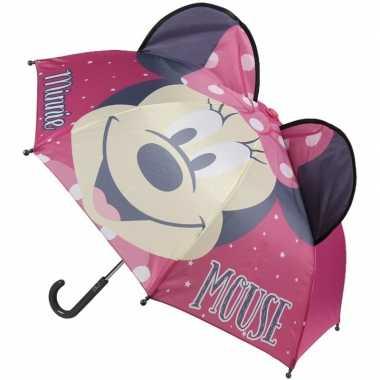 Minnie mouse oren kinderparaplu roze voor meisjes