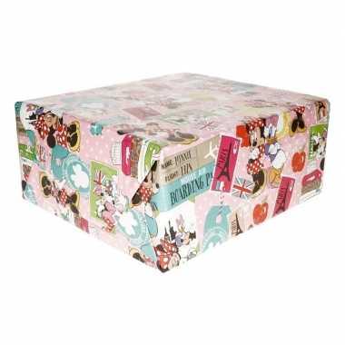 Minnie mouse parijs geschenkpapier