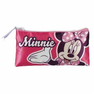 Minnie mouse school etui roze