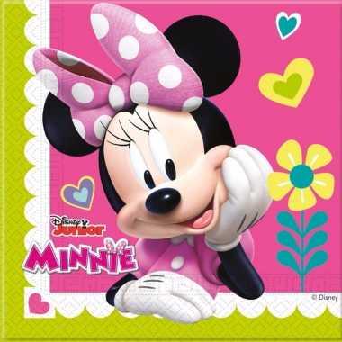 Minnie mouse servetjes 20 stuks