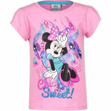 Minnie mouse shirt korte mouw roze voor meiden