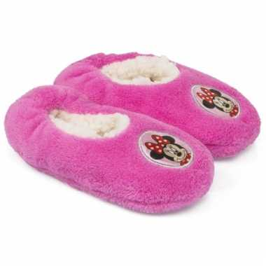 Minnie mouse slofjes roze anti-slip