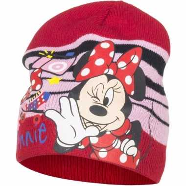 Minnie mouse warme kinder muts