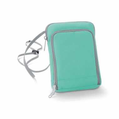 Mint groen reisportemonnee 19 cm