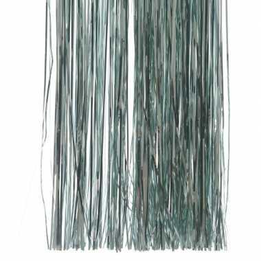 Mint groene kerstboom versiering lametta slierten
