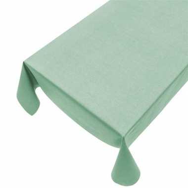 Mintgroen tafelkleden/tafellinnenen mintgroen 140 x 240 cm rechthoeki