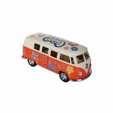 Modelbusje vw t1 oranje hippie 12,5 cm
