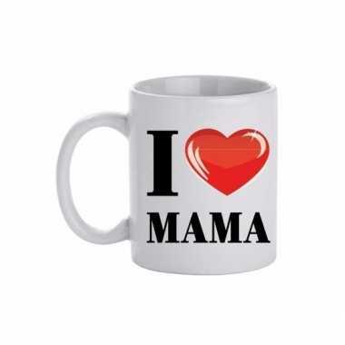 Moederdag i love mama koffiemok / beker 300 ml