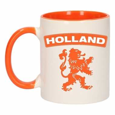 Mok/ beker holland oranje leeuw 300 ml