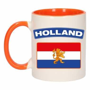 Mok/ beker holland vlag 300 ml