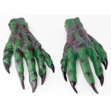 Monster handschoenen groen