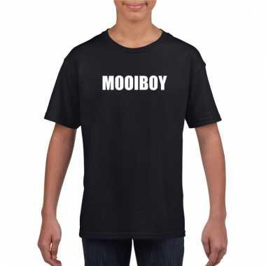 Mooiboy fun t-shirt zwart voor jongens en meisjes