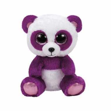 Mooie paarse knuffel beer 15 cm