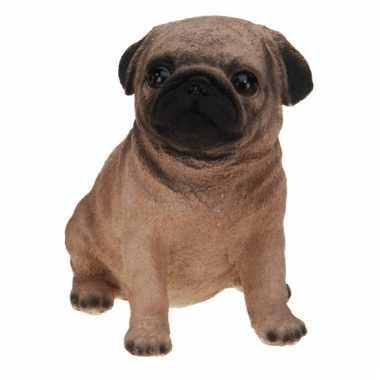 Mops hond beeldje voor binnen 17 cm