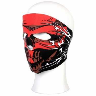 Motor masker rode schedel