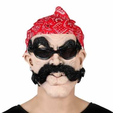 Motorrijder masker met bandana