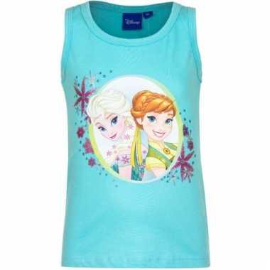 Mouwloos frozen t-shirt blauw