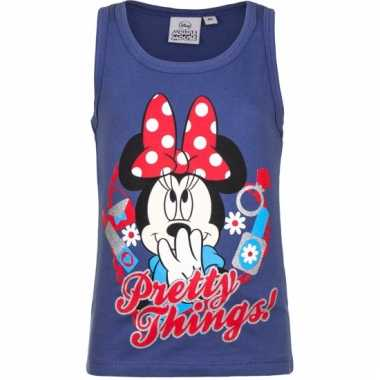 Mouwloos minnie mouse t-shirt blauw