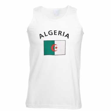Mouwloos t-shirt met algeria vlag mouwloos t-shirt